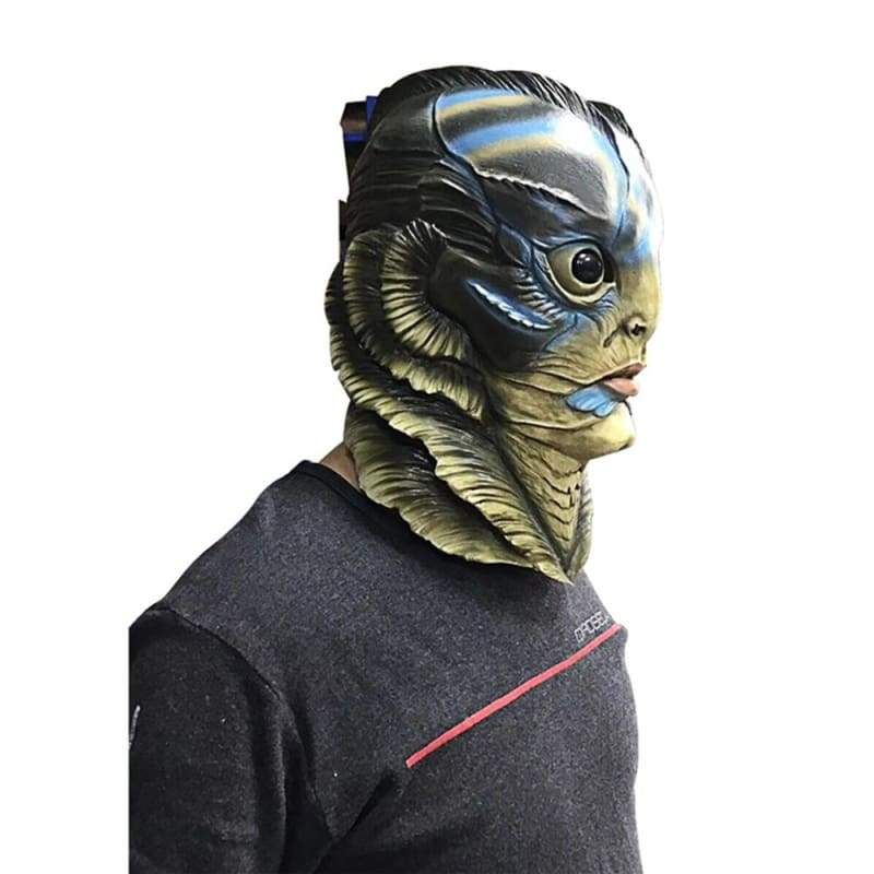 xcoser-de,The Shape of Water Amphibian Man Cosplay Mask,Mask