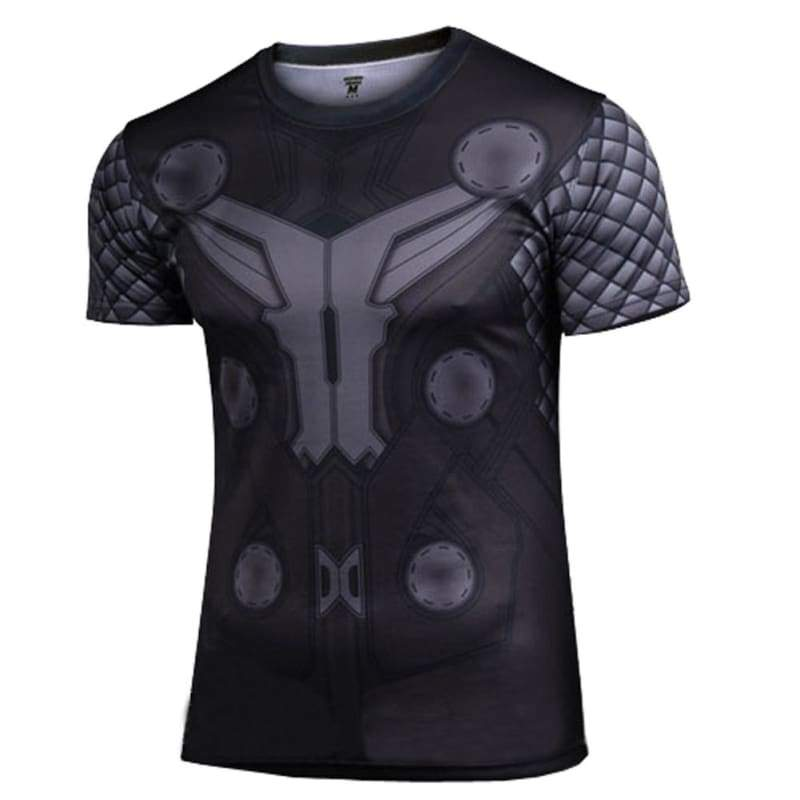 xcoser-de,Thor T Shirt Avenger 2 Thor Cosplay Short Sleeve Polyester Costume Cool Dry Tshirt For Men,T-shirts
