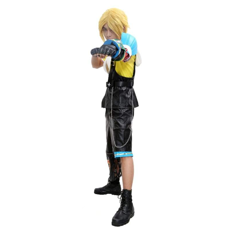 xcoser-de,Tidus Cosplay Costume Final Fantasy X Cosplay PU Outfit Adult,Costumes