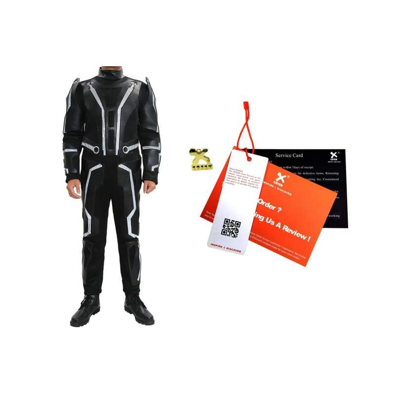 xcoser-de,Tron Legacy Costume Deluxe Sam Flynn Costume Reflective Materials For Adult Custom Made Movie Cosplay,Costumes