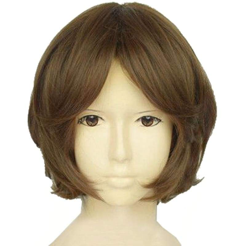 xcoser-de,Tsubaki Sawabe Wig Your Lie in April Cosplay Short Brown Wig,Wigs