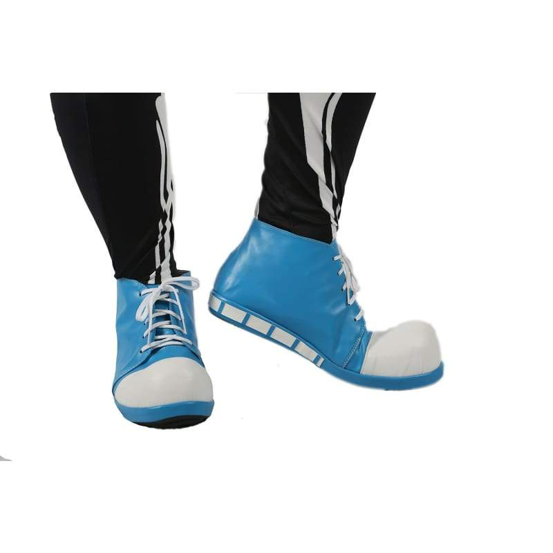 xcoser-de,Undertale Sans Shoes Blue Shoelace Style PU Shoes for Cosplay and Halloween Sale,Boots
