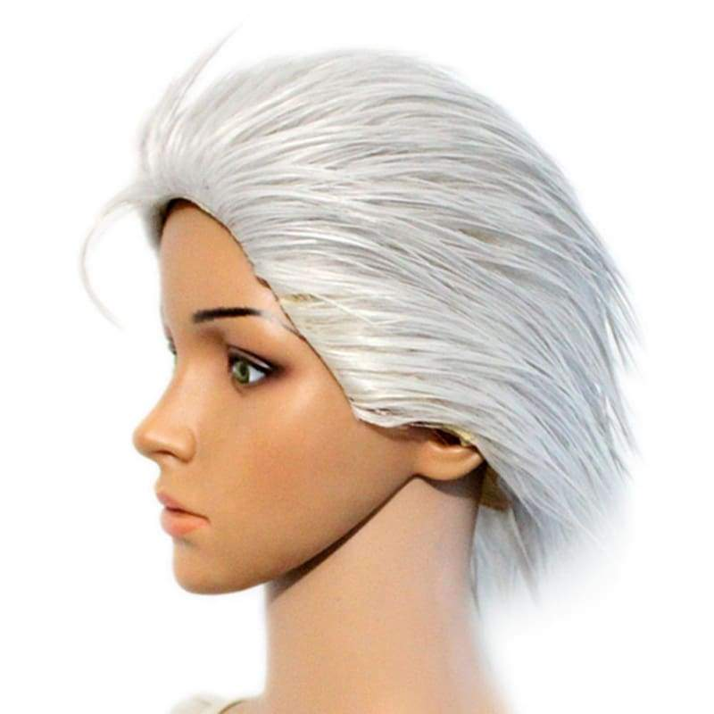 xcoser-de,Vergil Wig Short Silver Wig the Game Devil May Cry 4 Cosplay Accessory,Wigs