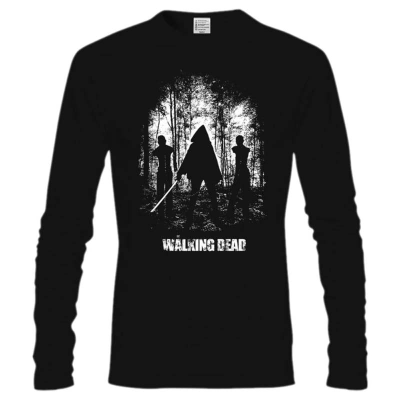 xcoser-de,Walking Dead T shirt Cool The Walking Dead Michonne T shirt Mens Long Sleeve T shirts,T-shirts