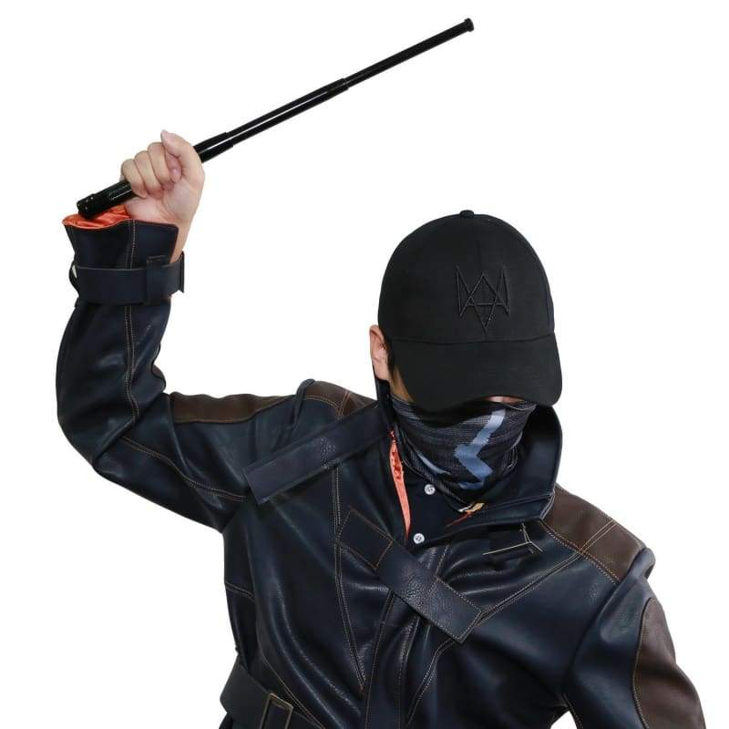 xcoser-de,Watch Dogs Black Mask Hat Aiden Pierce Stick,Props