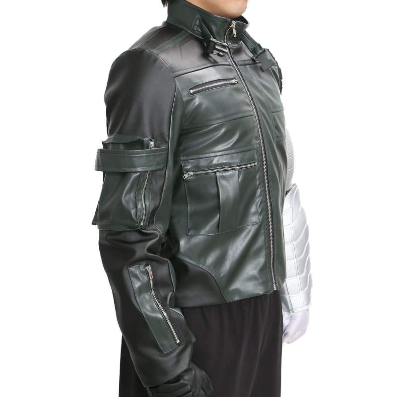 xcoser-de,Winter Soldier PU Jacket the Captain America 3 Cosplay Costume,Costumes