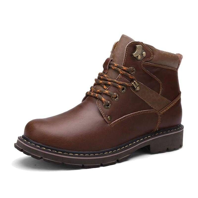 xcoser-de,Wolverine Boots Genuine Leather Brown Fashion Shoes Cosplay Costume,Boots
