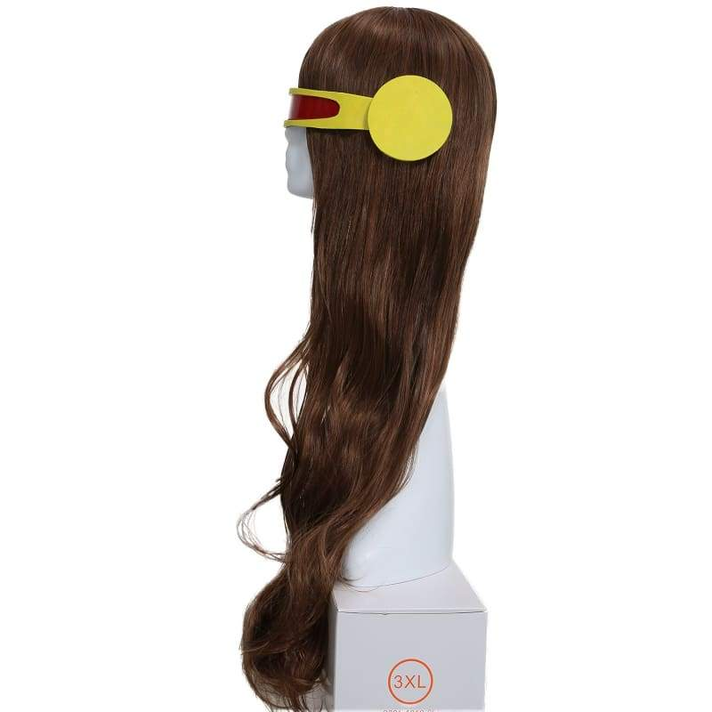 xcoser-de,X-Men Cyclops Woman Version Slightly Curly Brown Long Wig,Wigs