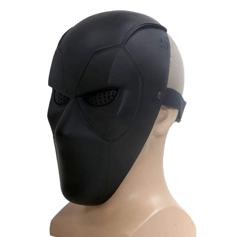 xcoser-de,X-Men Deadpool Cosplay Red PVC Half Face Mask DIY Version Sale 2018,Mask
