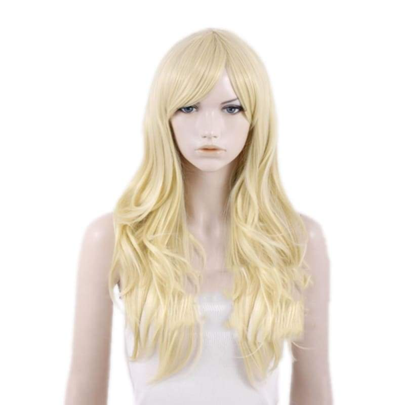 xcoser-de,X-Men Emma Frost Wig Long Curly Hair Emma Frost Cosplay Accessories,Wigs