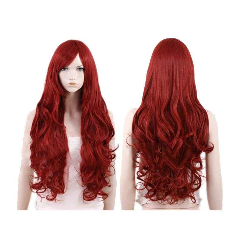 xcoser-de,X-Men Jean Grey Cosplay Wig Wine Red Long Curly Hair,Wigs