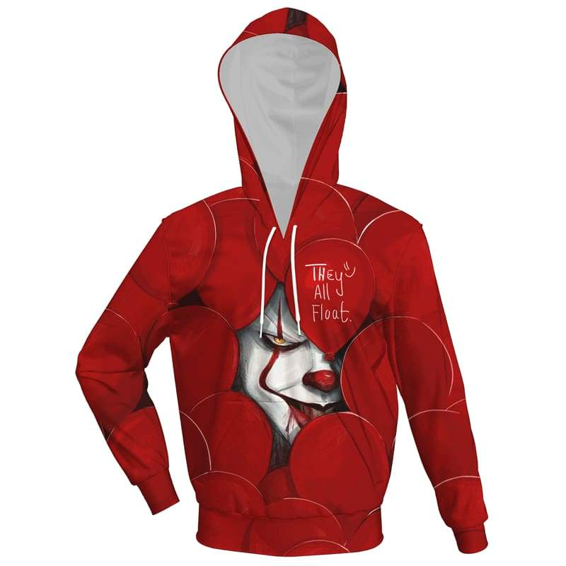 Xcoser 2019 Stephen King's It Pennywise Cosplay Hoodie Sweatshirts for Men & Women