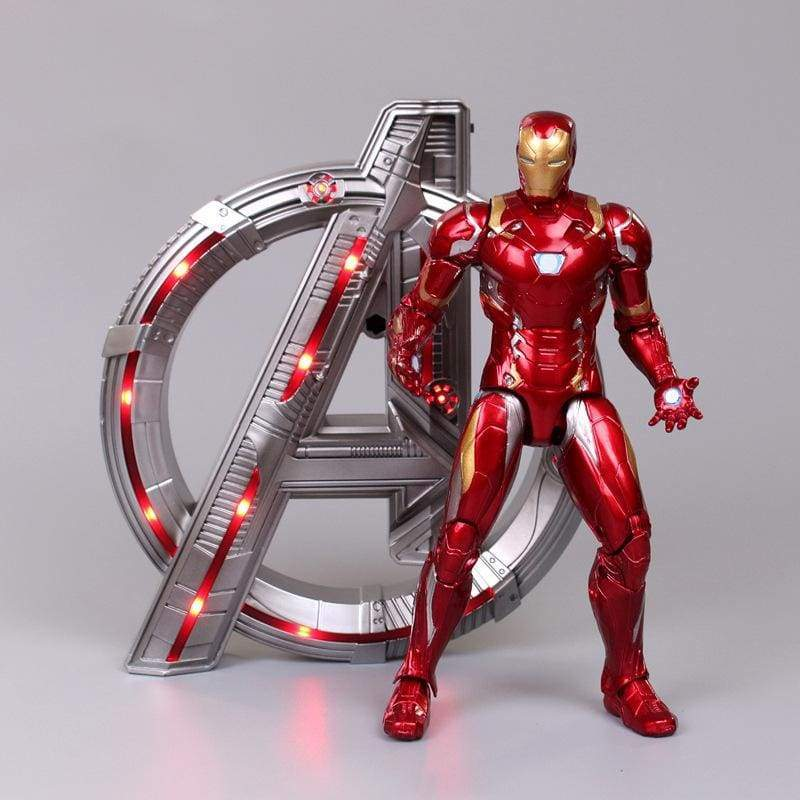 Xcoser 23cm Iron Spider-Man Iron Man Captain America  Movable Action Figure Toy