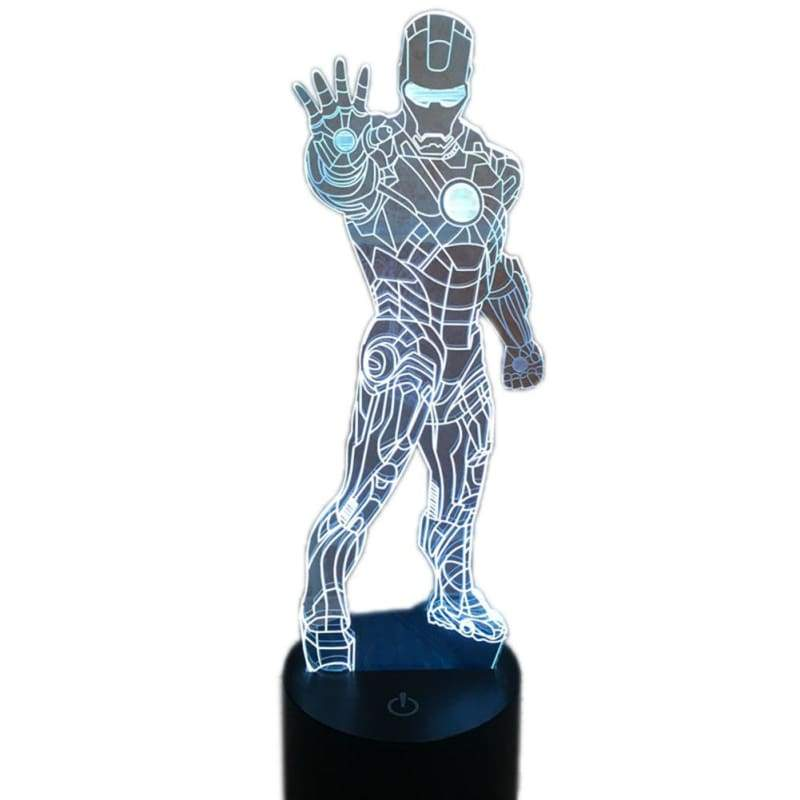 xcoser-de,XCOSER 3D Iron Man Gradual Stereoscopic Illusion Light Lamp LED Touch Switch 7Color,Others
