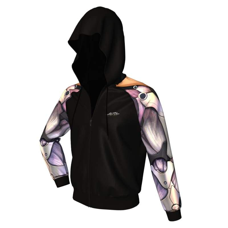 xcoser-de,XCOSER Alita: Battle Angel Alita Creative Hoodie Black Polyester,Hoodies