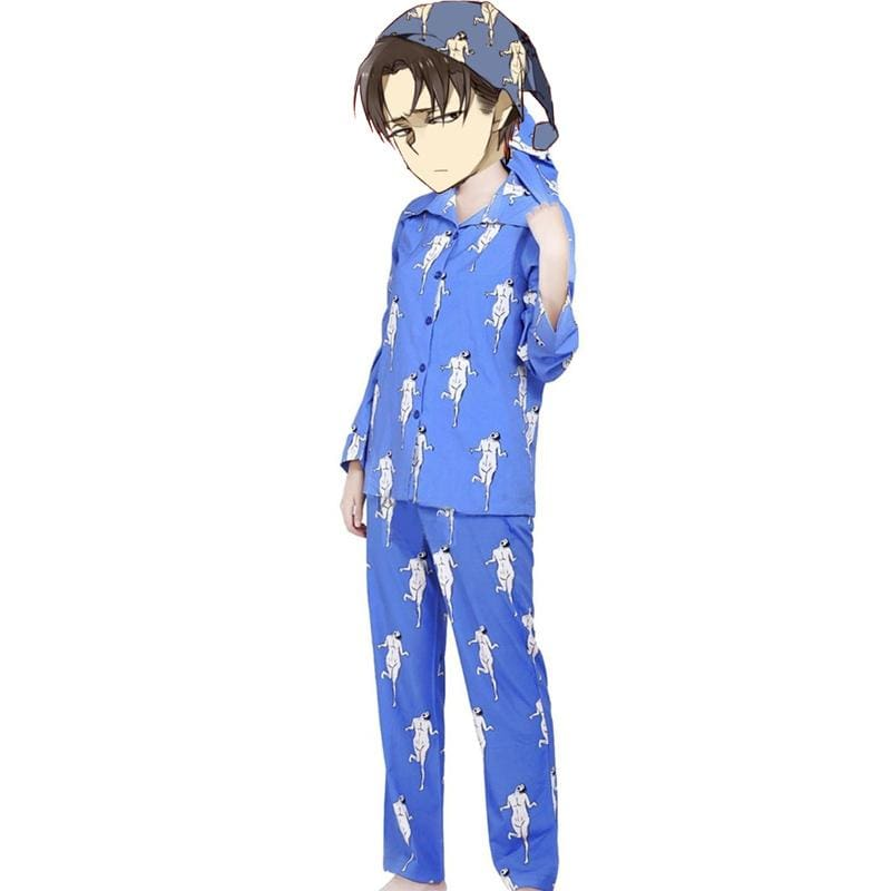 Xcoser Attack On Titan Pajamas Rivaille Levi Sleepwear Shingeki No Kyojin New Year Gift