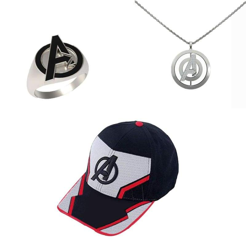 xcoser-de,XCOSER Avengers: Endgame Logo Necklace Ring and Hat,Others