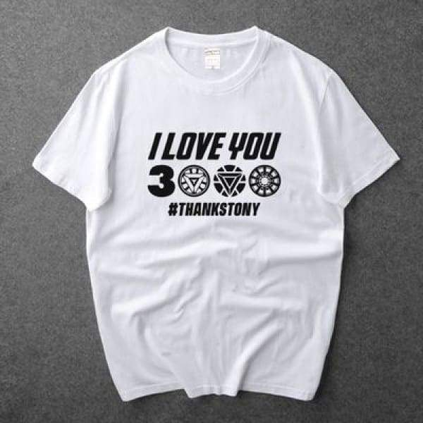 "xcoser-de,Xcoser Avengers Endgame quote ""I love you three thousand"" T-shirt-1,T-shirts"