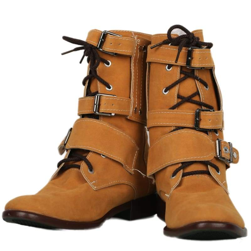 xcoser-de,Xcoser Batman Series Bane Cosplay Shoes Brown Cow Suede Martin Boots in Adults' Size,Boots