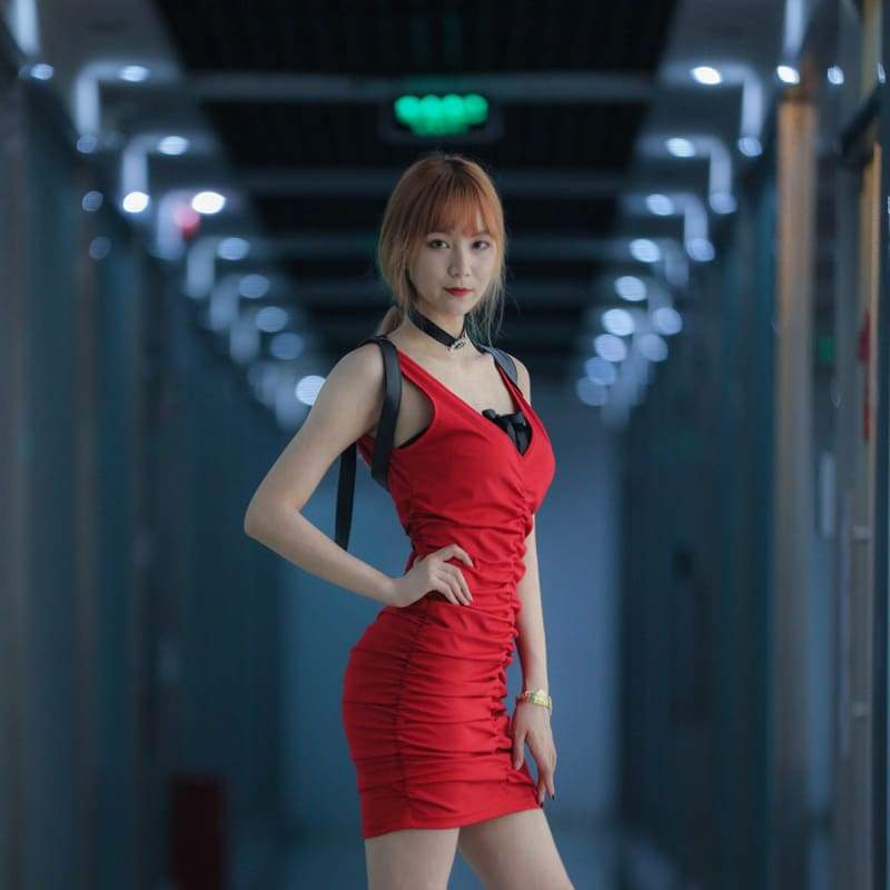 xcoser-de,XCOSER BioHazard RE2 Ada Wong Costume Red Cotton Cosplay Costume,Costumes