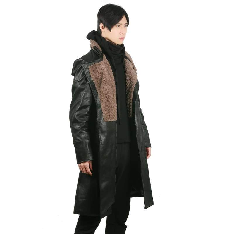 xcoser-de,Xcoser Blade Runner 2049 Movie Cosplay LAPD Officer K Thicken PU Leather Coat Costume,Costumes