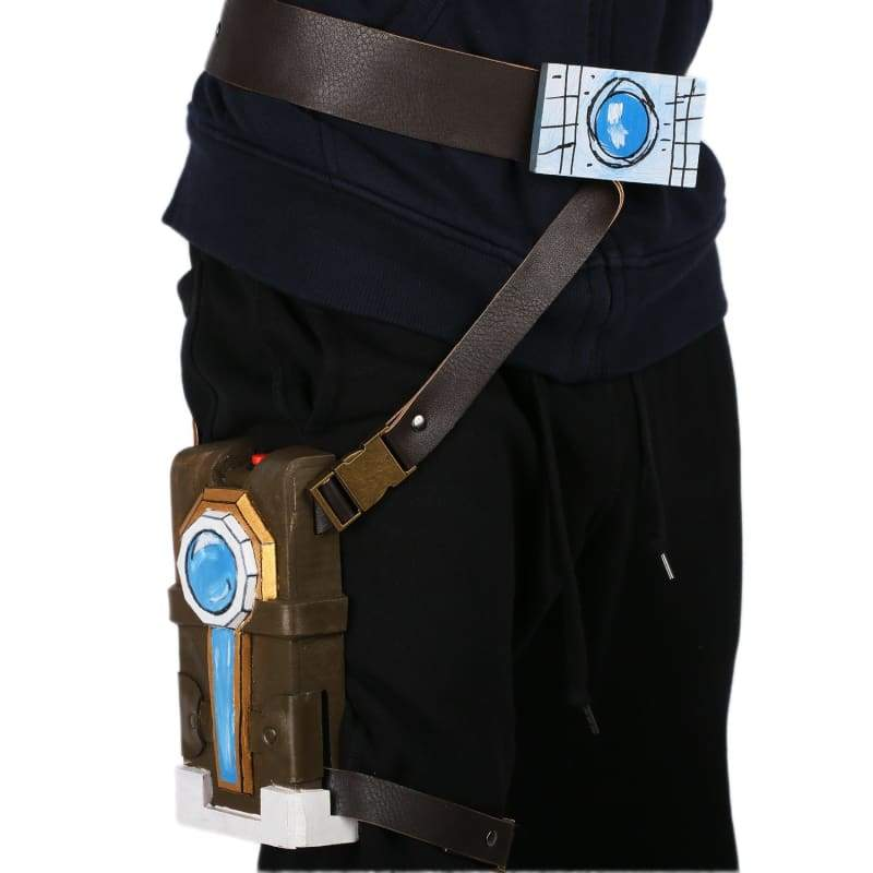 xcoser-de,Xcoser Borderlands Handsome Jack Cosplay Props Leather Belt Set Prop with Holster and Badge,Props