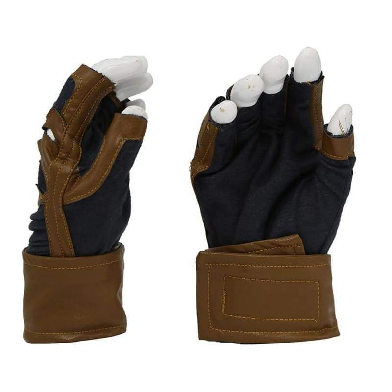 xcoser-de,Xcoser Captain America Brown Fingerless Gloves Cosplay Props(Only For the United States),Props