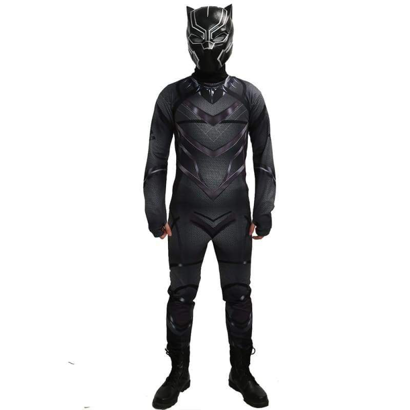 xcoser-de,Xcoser Captain America: Civil War Black Panther Zentai Cosplay Costume(Only For the United States),Costumes