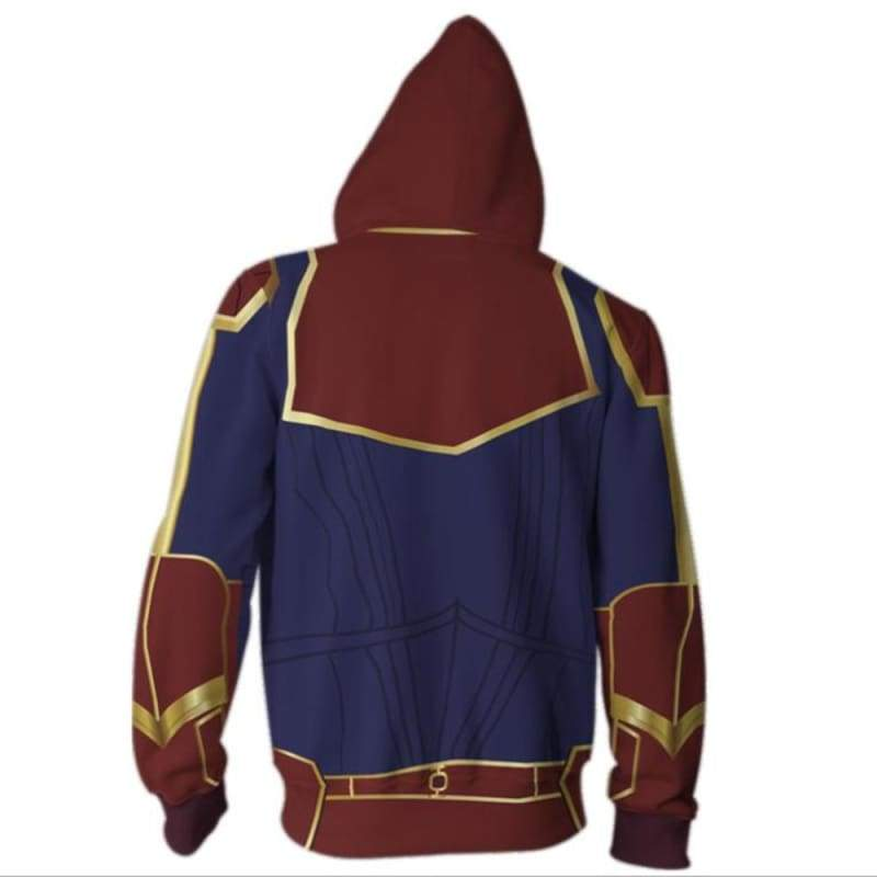 xcoser-de,XCOSER Captain Marvel Cosplay Hoodie,Hoodies