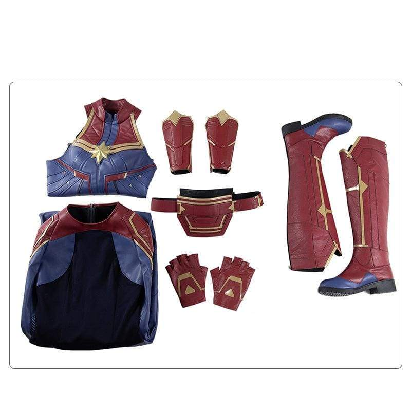 xcoser-de,Xcoser Captain Marvel Cosplay Shoes,Boots