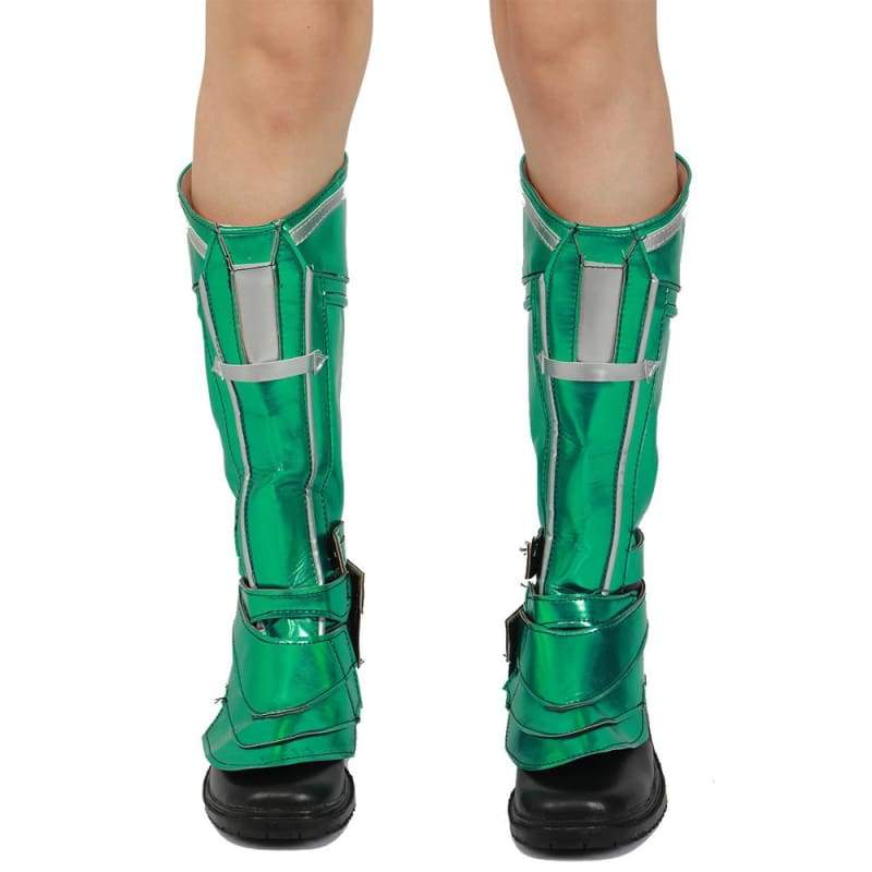 xcoser-de,XCOSER Captain Marvel Green PU Leather Shoes Cosplay Props,Boots