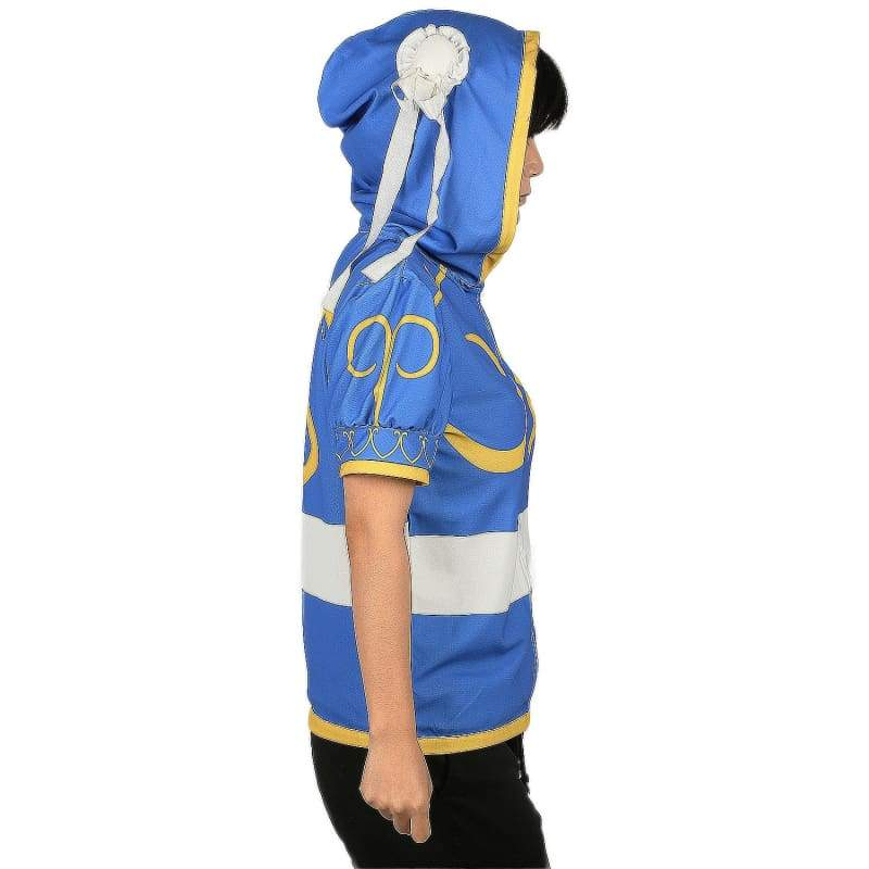 xcoser-de,Xcoser Chun Li Costume Hoodie Street Fighter Cosplay Costume,Hoodies