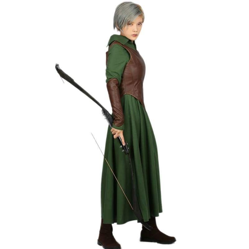 xcoser-de,Xcoser Classic Movie The Hobbit Tauriel Costume Outfits Tauriel Cosplay Costume,Costumes