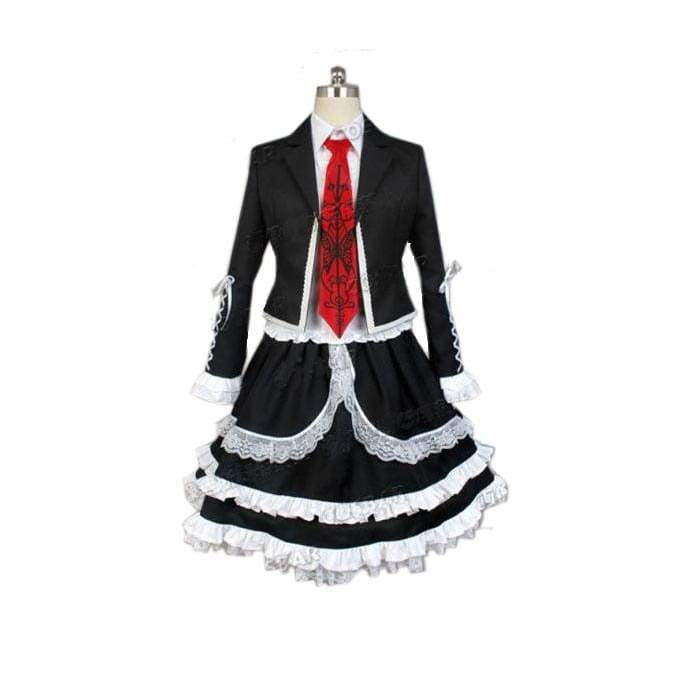 xcoser-de,Xcoser Costumes Dangan Ronpa Cosplay Celestia Ludenberg Dress Custom made,Costumes