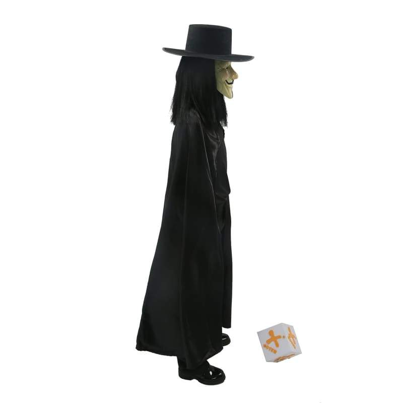 xcoser-de,Xcoser Costumes V for Vendetta Cosplay Cape Hat Mask Props Accessories,Costumes