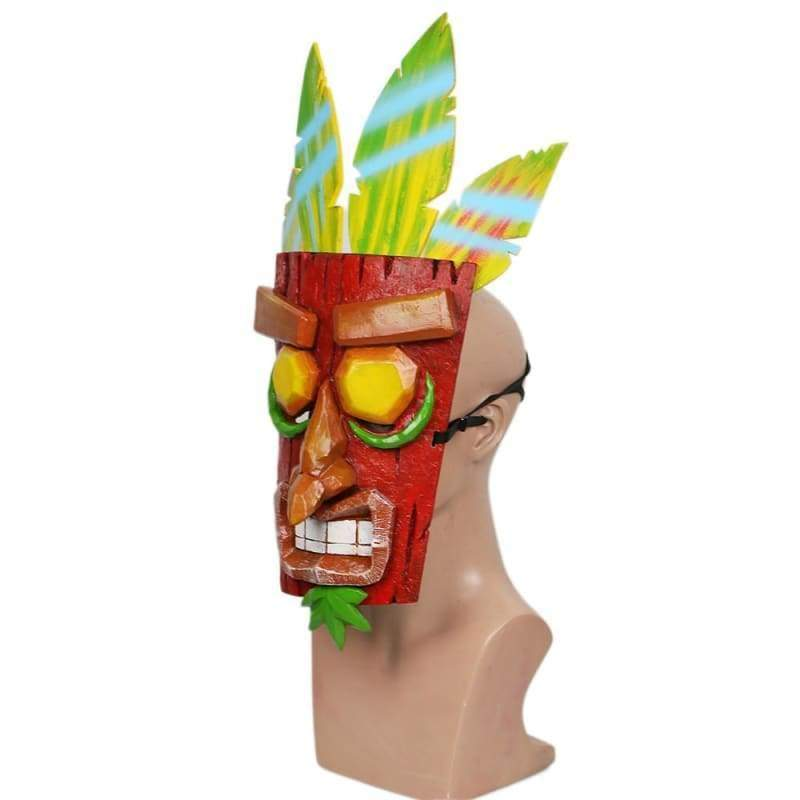 xcoser-de,XCOSER Crash Bandicoot Aku Mask Red & Green Resin Mask(Only For the United States),Mask
