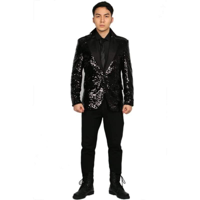 xcoser-de,Xcoser Daft Punk Shiny Black Full Suits Costume Daft Punk Cosplay Costume Adult's Size,Costumes