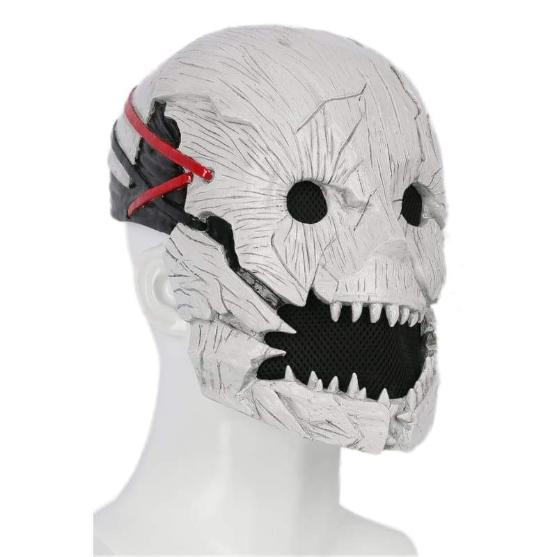 xcoser-de,Xcoser Dead by Daylight Mask Half Head Helmet the Trapper Cosplay Props with Xcoser Logo,Mask