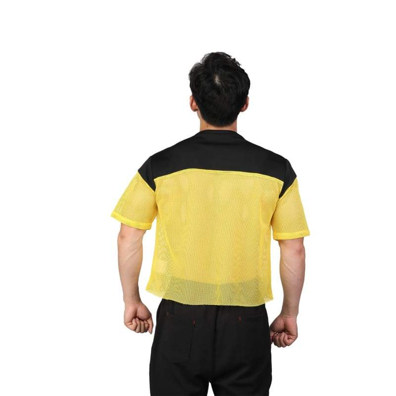 xcoser-de,XCOSER Deadpool 2 Cosplay Deadpool Yellow Grid T-shirt Costume,T-shirts
