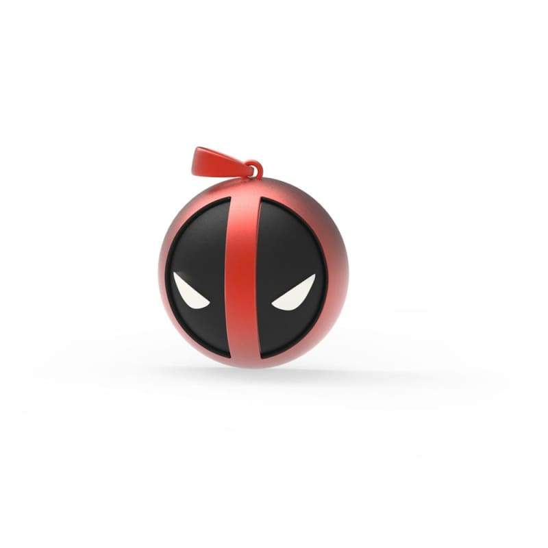 xcoser-de - XCOSER Deadpool Necklace Black and Red Face Pendant - Jewelry - Xcoser Costume