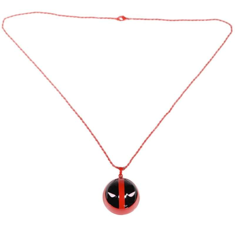 xcoser-de,XCOSER Deadpool Necklace Black and Red Face Pendant,Jewelry