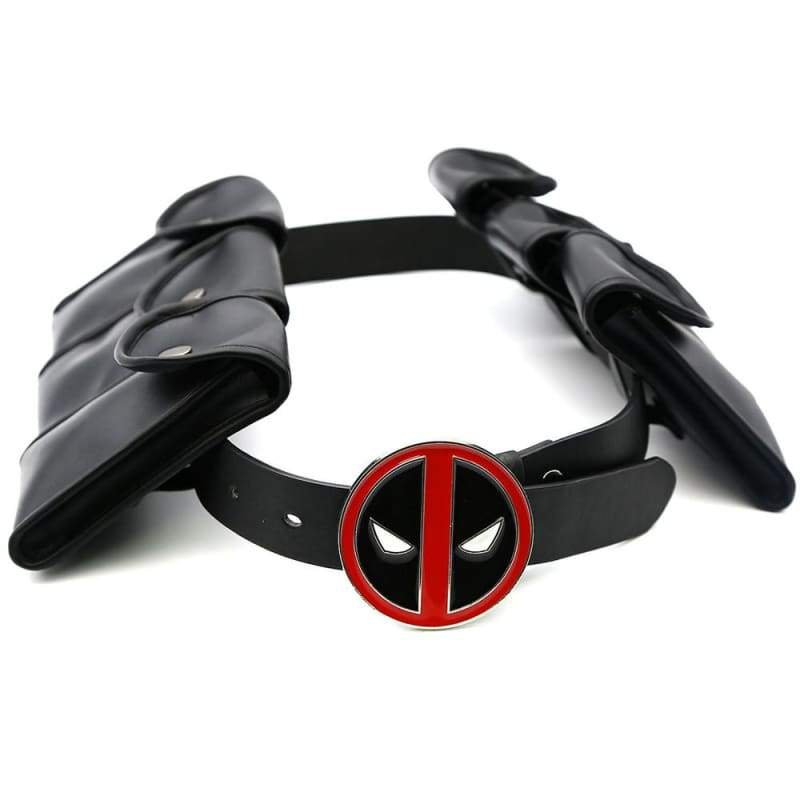 xcoser-de,Xcoser Deadpool PU Belt with 6 Small Bags X-Men Cosplay Props,Props