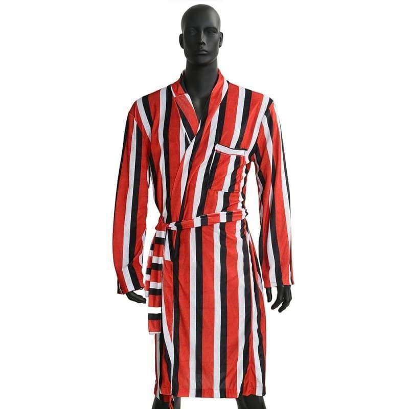 xcoser-de - Xcoser Deadpool Striped Bathrobe  Movie Cosplay Costume(Only For the United States) - Costumes