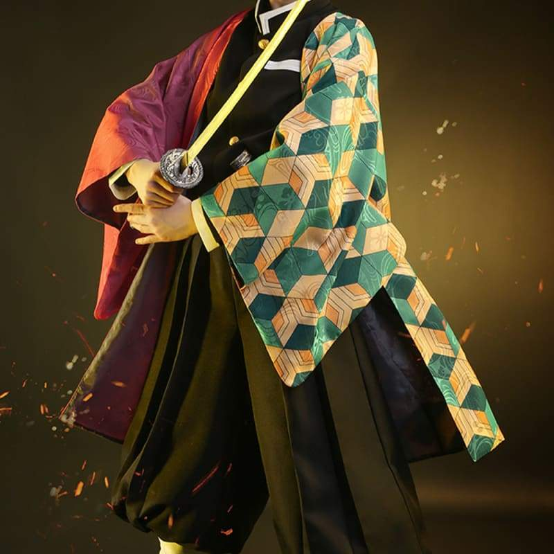 Xcoser Demon Slayer: Kimetsu no Yaiba Corpsgiyu Tomioka Water Pillar Cosplay Costume - s - Costumes 2