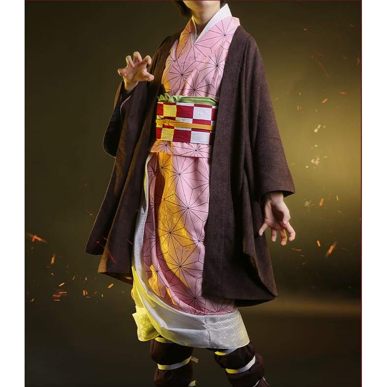 Xcoser Demon Slayer: Kimetsu no Yaiba Nezuko Kamado Cosplay Costume - s - Costumes 7