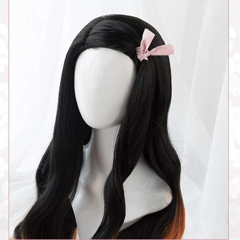 Xcoser Demon Slayer: Kimetsu no Yaiba Nezuko Kamado Cosplay Wig - Costumes 4