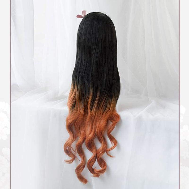 Xcoser Demon Slayer: Kimetsu no Yaiba Nezuko Kamado Cosplay Wig - Costumes 3