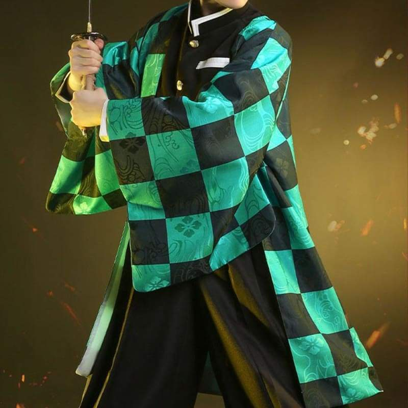 Xcoser Demon Slayer: Kimetsu no Yaiba Tanjiro Kamado Cosplay Costume - Costumes 6