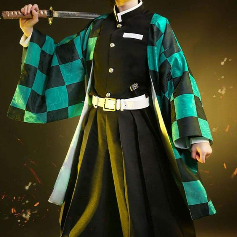 Xcoser Demon Slayer: Kimetsu no Yaiba Tanjiro Kamado Cosplay Costume - Costumes 7