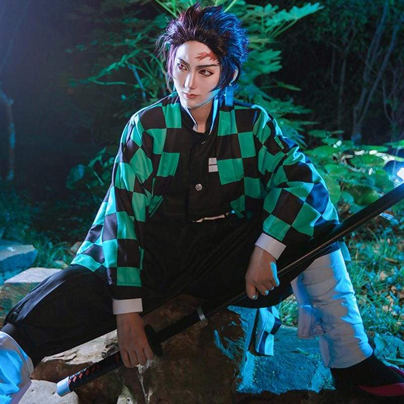 Xcoser Demon Slayer: Kimetsu no Yaiba Tanjiro Kamado Cosplay Costume - Costumes 4